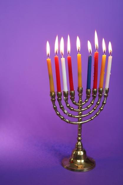 Kolorowe świece, Chanuka Darmowe Zdjęcia