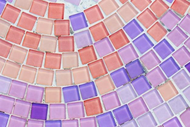 Kolorowe szkło i płytki ścienne tekstury tła, sztuka mozaiki Premium Zdjęcia