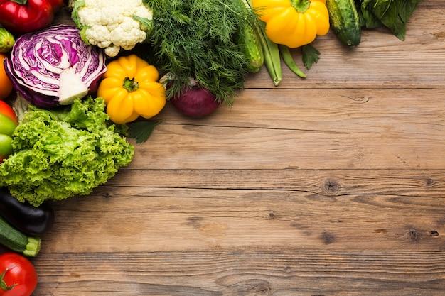 Kolorowe Tło Warzyw Z Miejsca Na Kopię Darmowe Zdjęcia