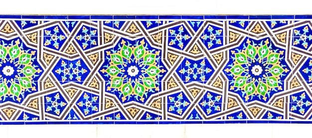 Kolorowe tradycyjne mozaiki uzbek Premium Zdjęcia