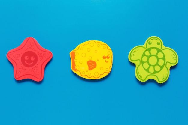 Kolorowe Zabawki W Kształcie Morskich Stworzeń Premium Zdjęcia