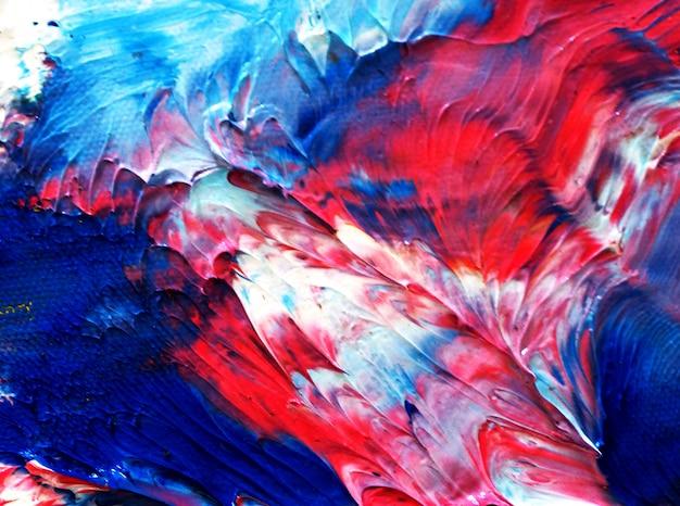 Kolorowego Obrazu Olejnego Wielo- Kolorów Abstrakta Tekstura. Premium Zdjęcia