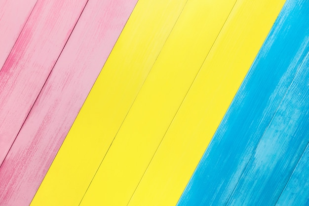 Kolorowy askew drewniany panel tekstury tło Premium Zdjęcia