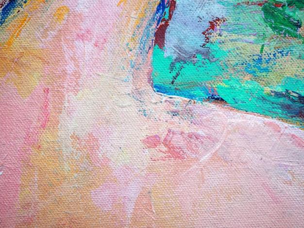 Kolorowych kolorów farby muśnięcia słodkiej nafcianej farby abstrakta tło. Premium Zdjęcia
