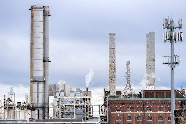 Kominy elektrowni Premium Zdjęcia