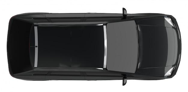 Kompaktowy Czarny Crossover Miejski Premium Zdjęcia