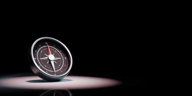 Kompas W Centrum Uwagi Na Białym Tle Premium Zdjęcia