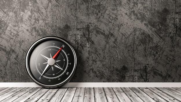 Kompas W Pokoju Na Białym Tle Premium Zdjęcia