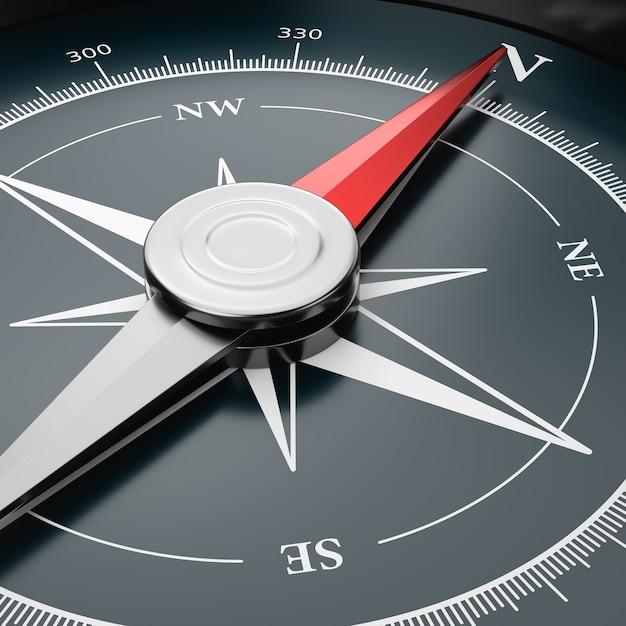 Kompas Z Bliska Szczegółów Premium Zdjęcia