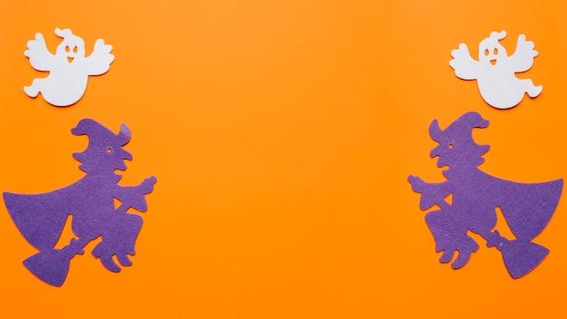 Kompozycja Czarownic I Duchów Na Noc Halloween Darmowe Zdjęcia