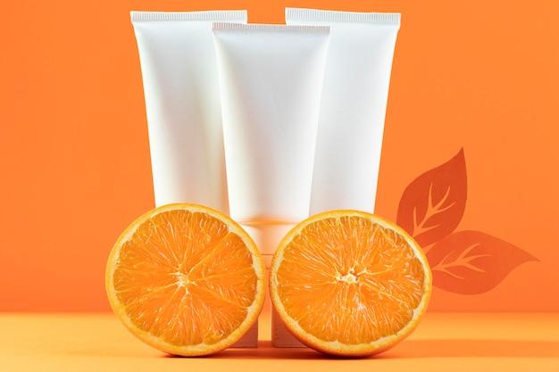 Kompozycja Kosmetyków Z Pomarańczami Darmowe Zdjęcia