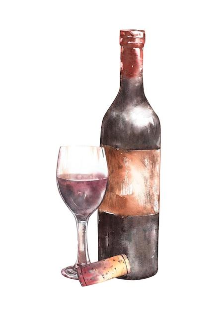 Kompozycja Z Butelką Wina Premium Zdjęcia