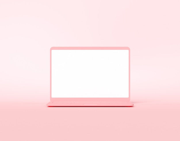 Komputerowy Notebook Z Pustym Ekranem Premium Zdjęcia