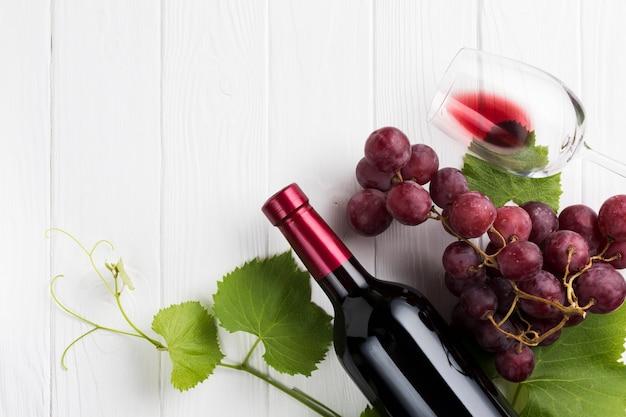 Koncepcja czerwonego wina i winorośli Darmowe Zdjęcia