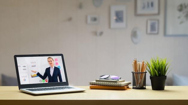 Koncepcja E-learningu I Prezentacji Biznesowych Online. Premium Zdjęcia