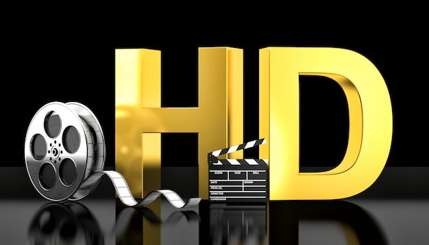 Koncepcja filmu hd Premium Zdjęcia