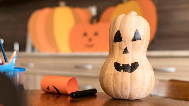 Koncepcja Halloween Z Dynią Darmowe Zdjęcia