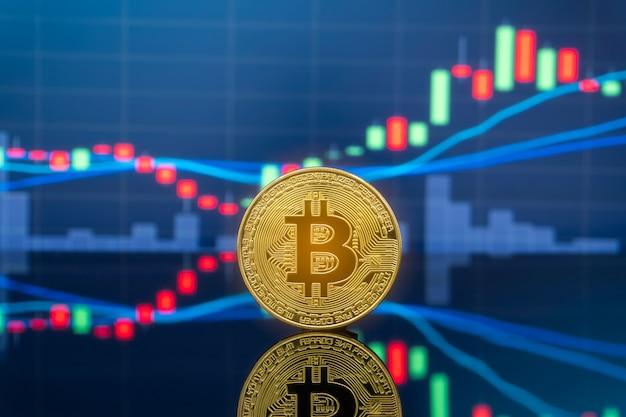Koncepcja inwestowania bitcoin i kryptowaluta. Premium Zdjęcia
