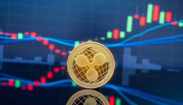 Koncepcja inwestowania falowania i kryptowaluty. Premium Zdjęcia