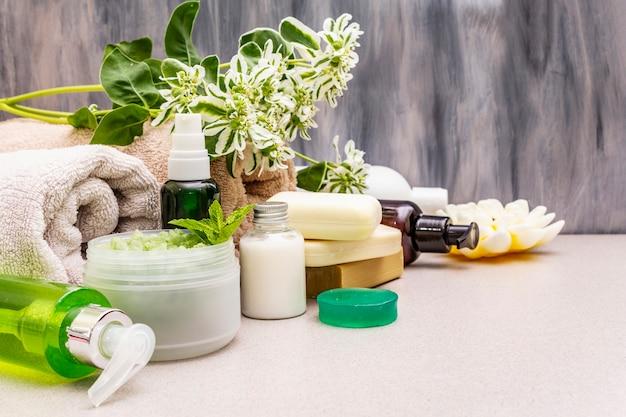 Koncepcja Kwiat Spa Zdrowe I Uroda Premium Zdjęcia