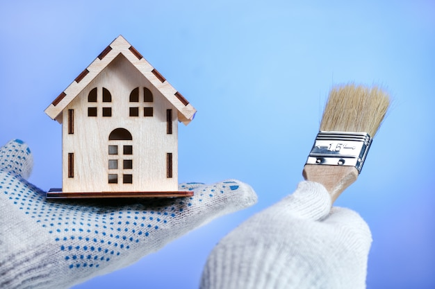 Koncepcja naprawy i remont domu. Premium Zdjęcia