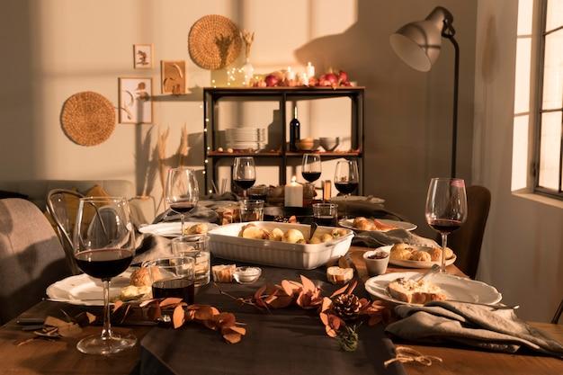 Koncepcja Piękny Posiłek Dziękczynienia Darmowe Zdjęcia