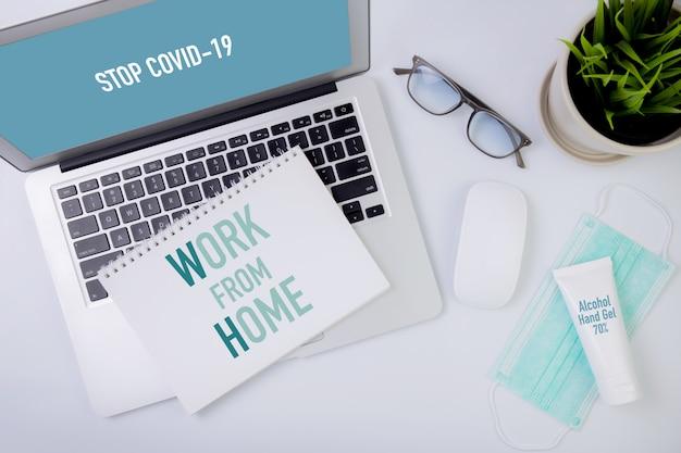 Koncepcja Pracy Z Domu. Premium Zdjęcia