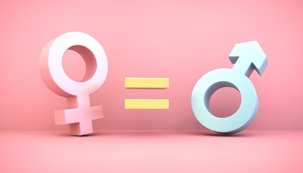 Koncepcja Równości Płci Premium Zdjęcia