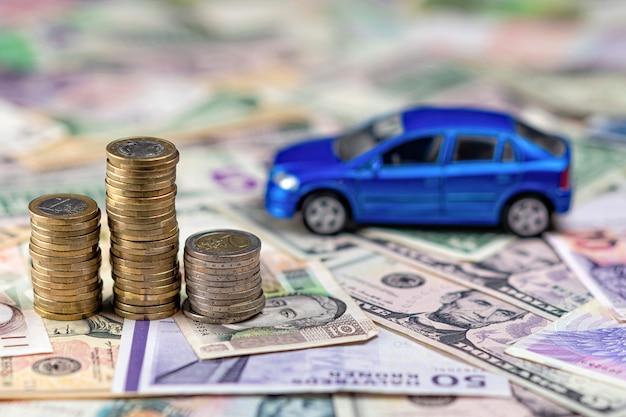 Koncepcja samochodu i pieniędzy Premium Zdjęcia