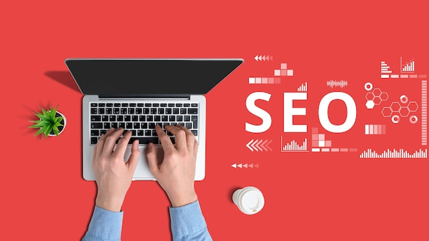 Koncepcja Specjalisty Ds. Optymalizacji Witryn Pod Kątem Wyszukiwarek Premium Zdjęcia