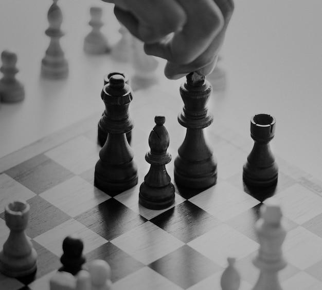Koncepcja Strategii Biznesowej Gry W Szachy Darmowe Zdjęcia