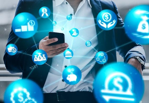 Koncepcja Technologii Transakcji Finansowych I Finansowych Premium Zdjęcia