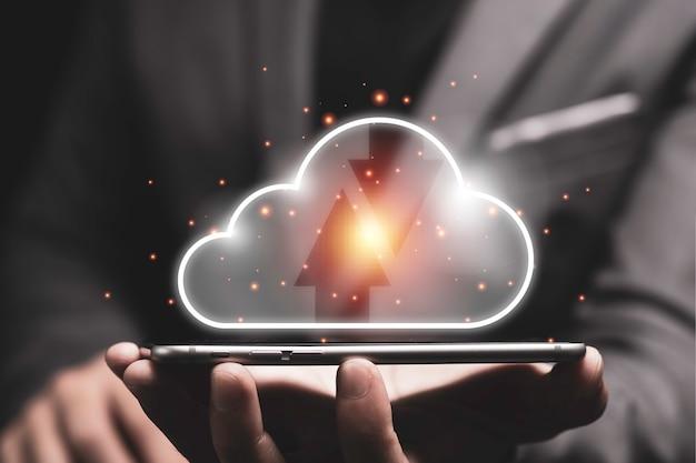 Koncepcja Transformacji Technologii Przetwarzania W Chmurze. Premium Zdjęcia