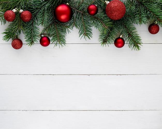Koncepcja Wigilia Bożego Narodzenia Na Drewnianym Stole Premium Zdjęcia