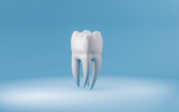 Koncepcja Zdrowego Zęba Na Niebiesko Premium Zdjęcia