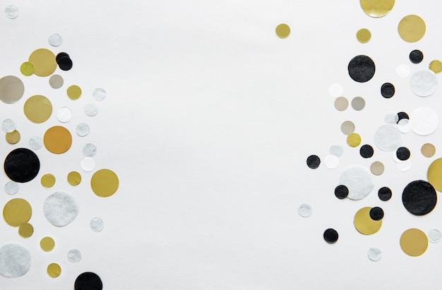 Konfetti złote, srebrne, czarno-białe Premium Zdjęcia