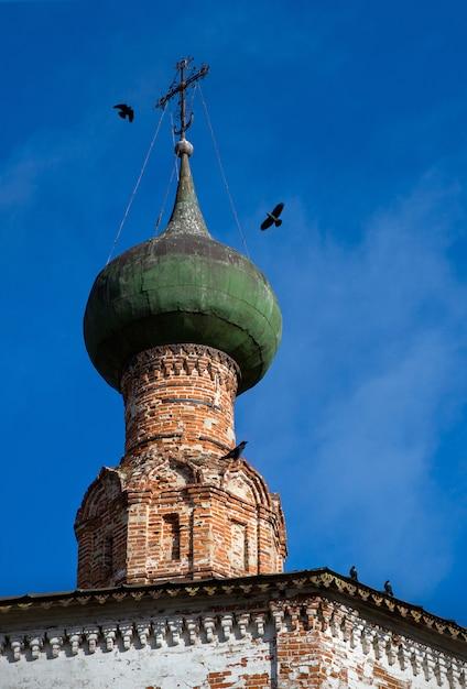 Kopuła Starego Kościoła, Prawosławie, Wrony Premium Zdjęcia