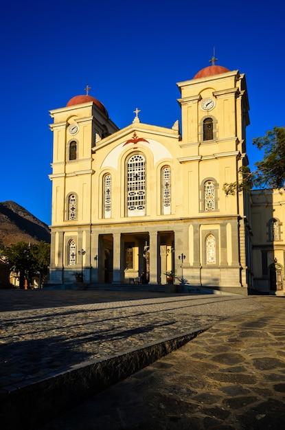 Kościół Panagia W Neapoli, Kreta, Grecja Premium Zdjęcia