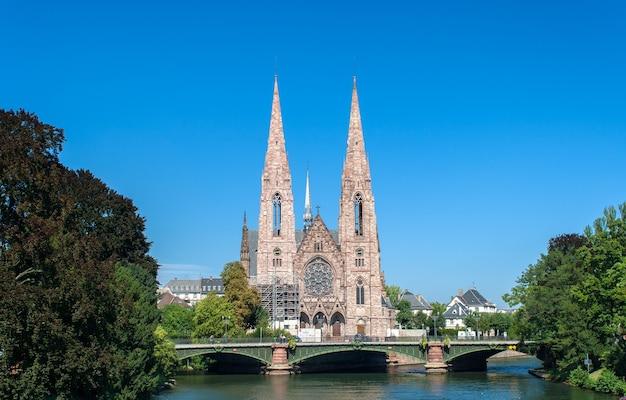 Kościół św. Pawła W Strasburgu Premium Zdjęcia