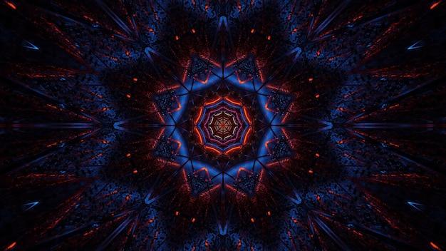 Kosmiczne Tło W Postaci Czarno-niebieskich I Czerwonych świateł Laserowych - Idealne Na Tapetę Cyfrową Darmowe Zdjęcia