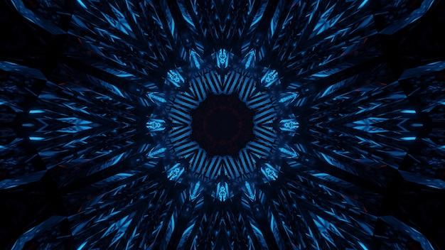 Kosmiczne Tło Z Niebieskimi Neonowymi światłami Laserowymi Darmowe Zdjęcia