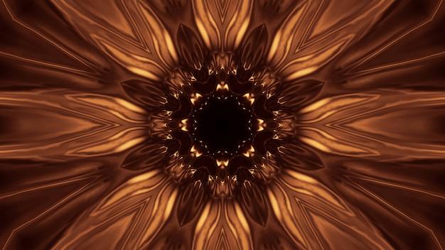Kosmiczne Tło Ze Złotymi światłami Laserowymi - Idealne Jako Tapeta Cyfrowa Darmowe Zdjęcia