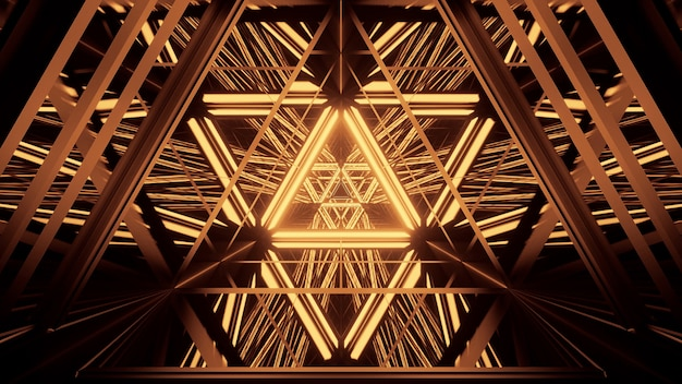 Kosmiczne Tło Ze Złotymi światłami Laserowymi Darmowe Zdjęcia