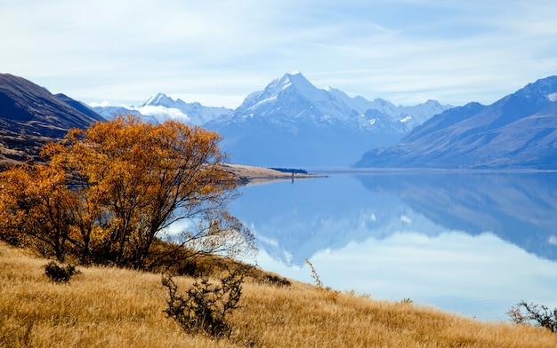 Krajobraz góry cook range Premium Zdjęcia
