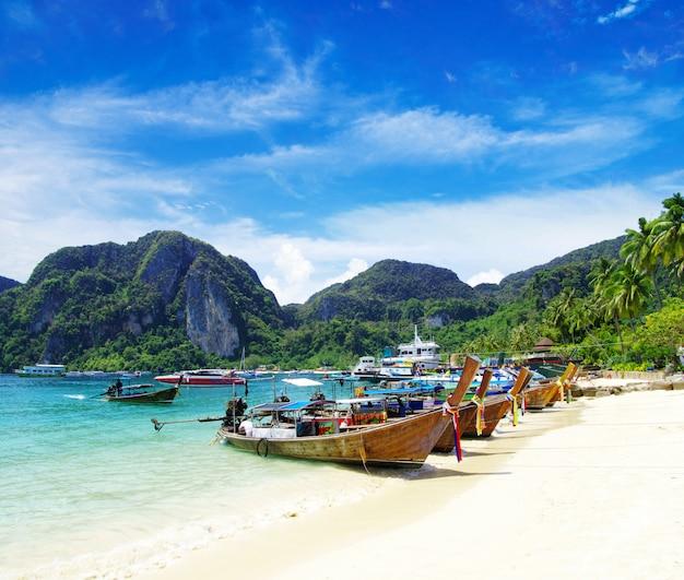 Krajobraz Plaży Premium Zdjęcia