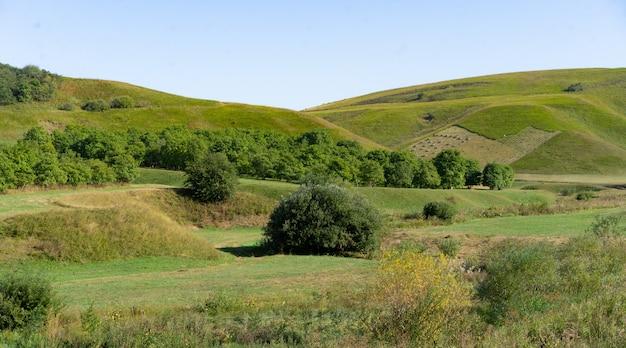 Krajobraz Regionu Podgórskiego Jesienią Premium Zdjęcia