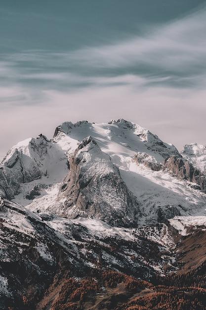 Krajobraz Snowy Mountain Darmowe Zdjęcia