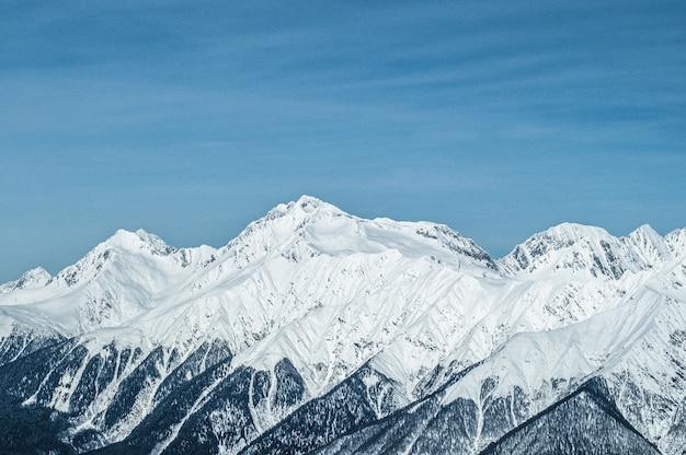 Krasnaja polana góry Premium Zdjęcia