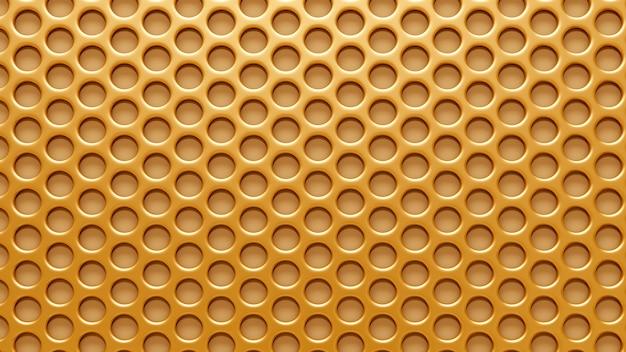 Kratka W Złotym Tle. Renderowania 3d. Premium Zdjęcia