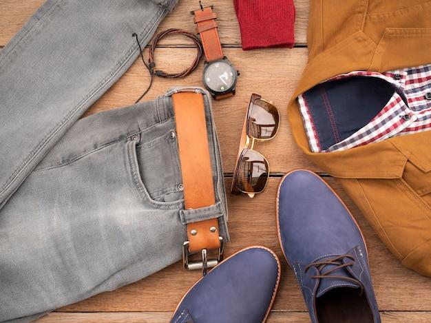 Kreatywny Projekt Mody Dla Męskiej Odzieży I Akcesoriów Premium Zdjęcia
